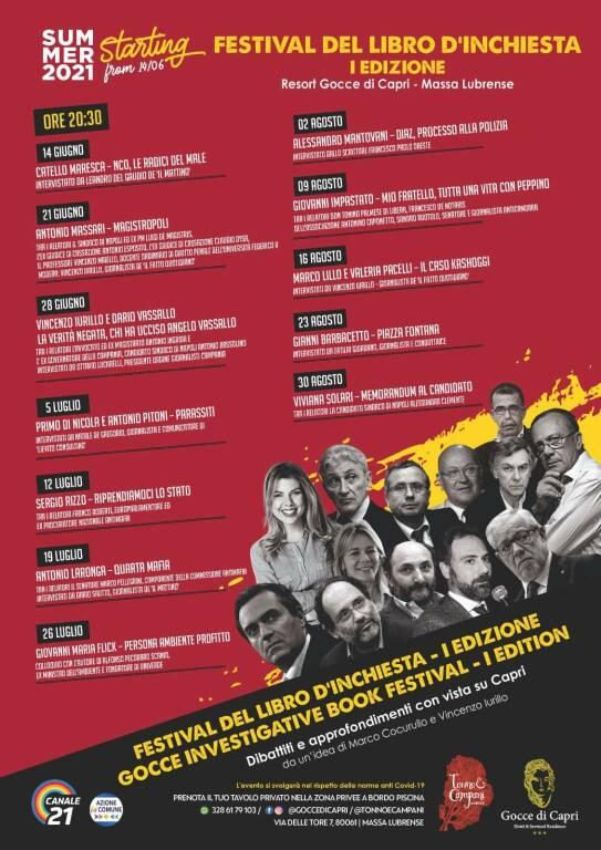 Festival del Libro d'Inchiesta. Prima edizione al Gocce di Capri a Massalubrense