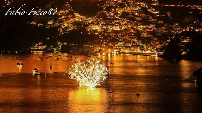Fuochi d'artificio San Pietro a Positano