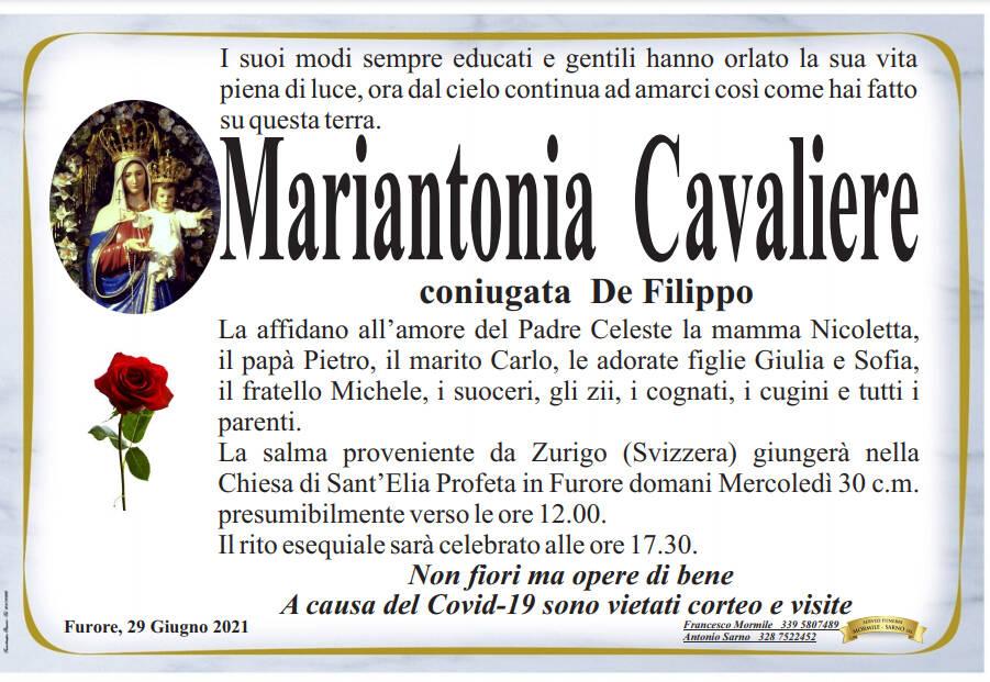Furore piange la scomparsa di Mariantonia Cavaliere, ex assessore e consigliere comunale