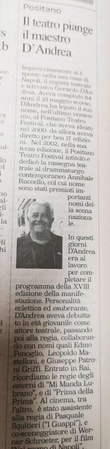 Gerardo D'Andrea nella stampa