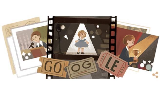 Il Doodle di Google di oggi in onore di Shirley Temple