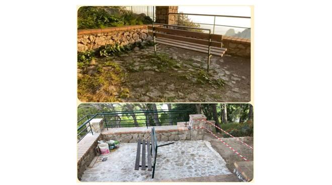 """Il gruppo consiliare """"CapriVera"""": pavimentazione di Parco Astarita coperta da uno strato di cemento"""
