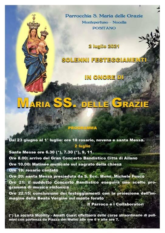Il programma della Festa della Madonna delle Grazie a Montepertuso