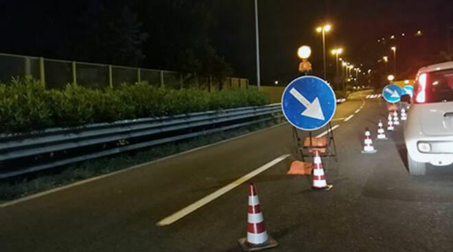 Illuminazione della tangenziale di Salerno: dalla prossima settimana lavori anche in orario diurno lungo l'asse principale