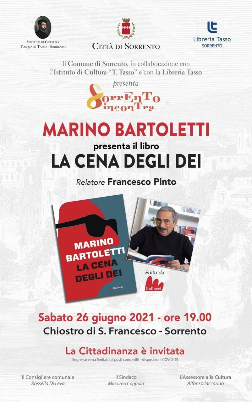 """Libri. Marino Bartoletti presenta a Sorrento """"La cena degli dei"""""""