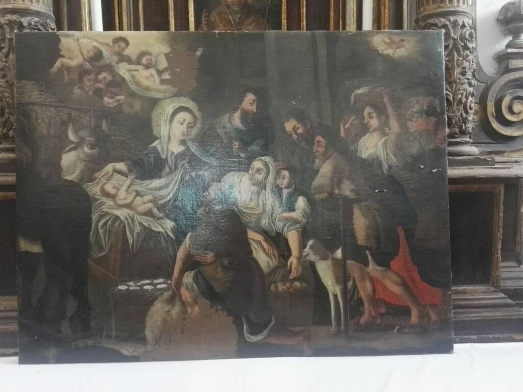 Massa Lubrense, ritrovata la tela del Seicento della Natività trafugata nel 2014 dalla Cappella di Campo