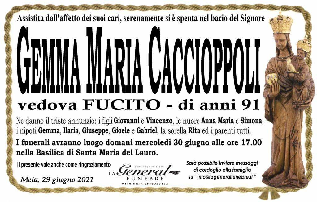 Meta, lutto per la perdita di Gemma Maria Caccioppoli
