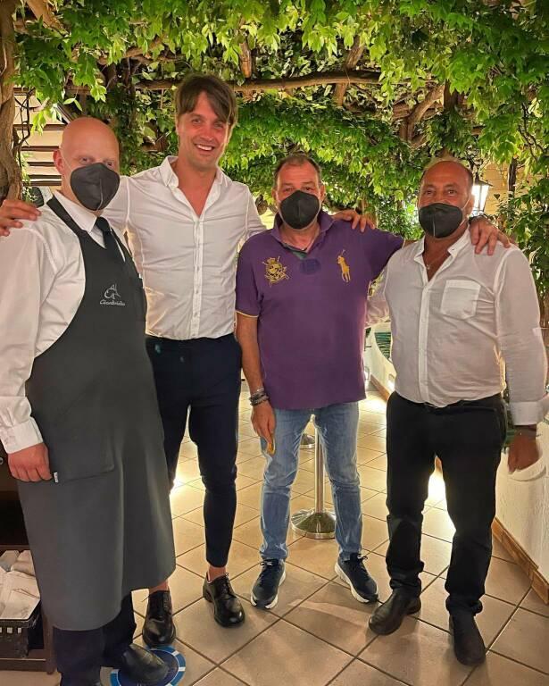 Minori: Massimo Paci al ristorante pizzeria Il Giardiniello