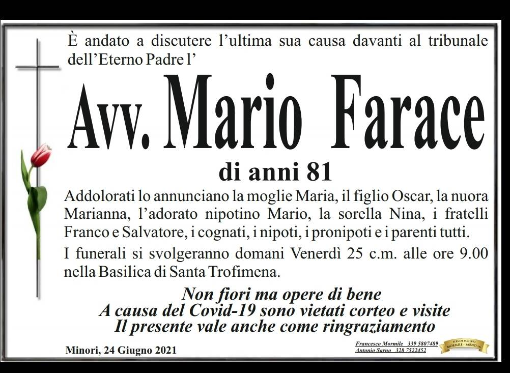 Necrologio Farace