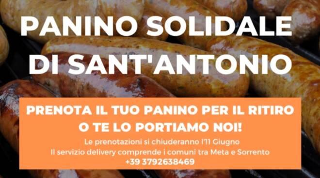 Panino solidare di Sant'Antonio al Convento dei Frati Cappuccini di Sant'Agnello. Aperte le prenotazioni