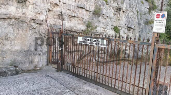 Parco Lamaro cancello Piano di Sorrento