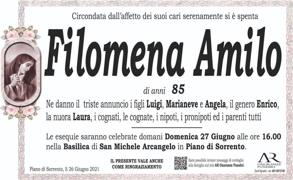 Piano di Sorrento, addio all'85enne Filomena Amilo