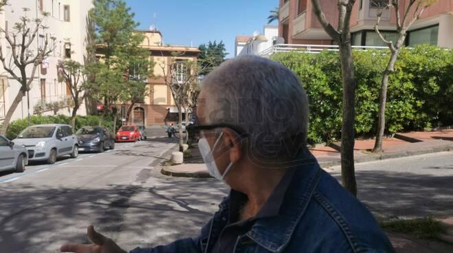 Piano di Sorrento intersezione Corso Italia abbandonata