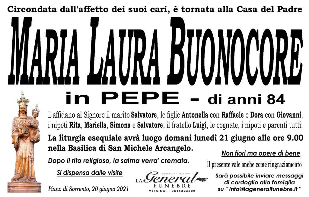 Piano di Sorrento, lutto per la perdita di Maria Laura Buonocore