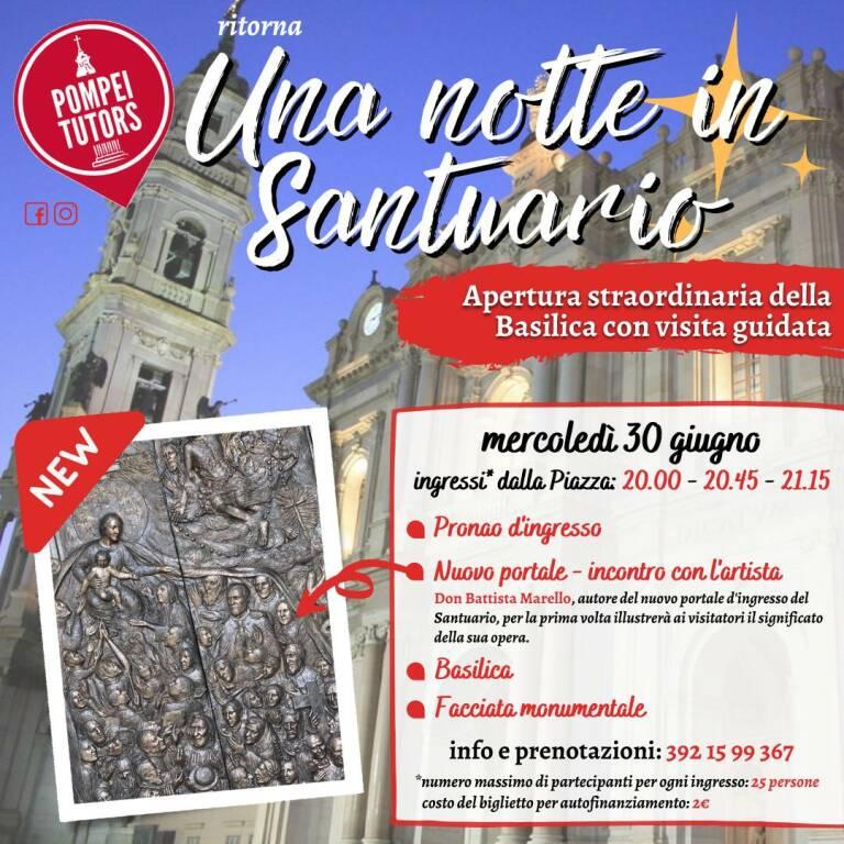 Pompei: il 30 giugno il Santuario apre anche di notte