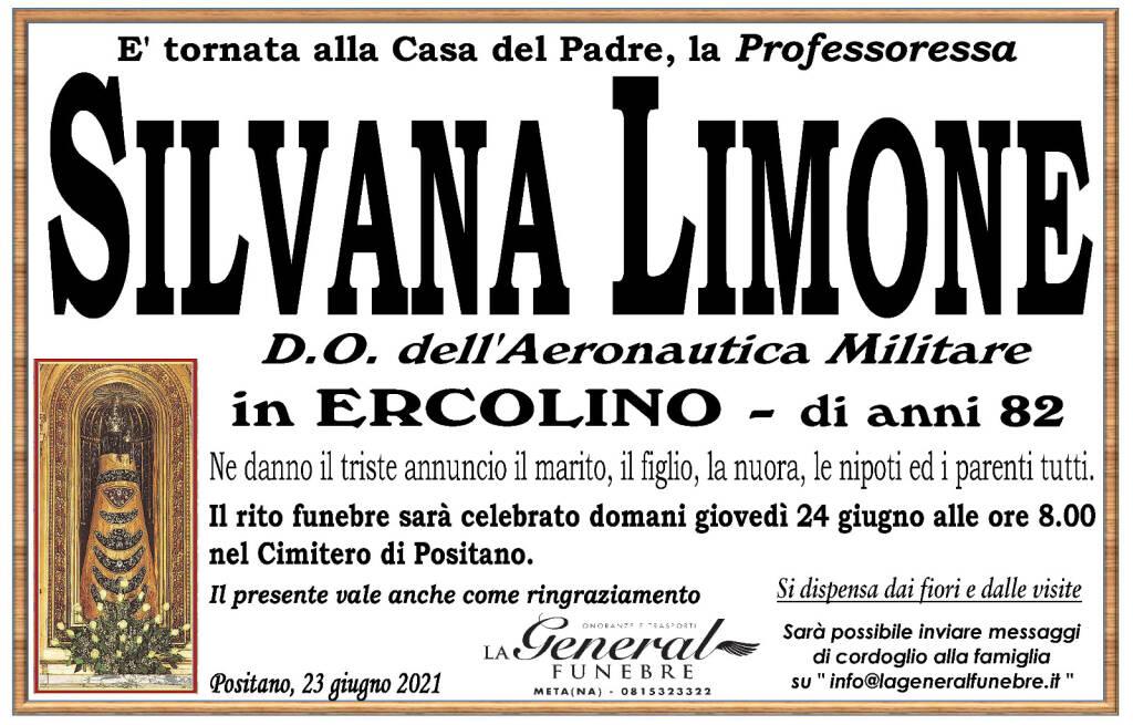 Positano: all'età di 82 anni è scomparsa la Professoressa Silvana Limone, in Ercolino