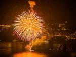 Positano, fuochi d'artificio all'Hotel San Pietro
