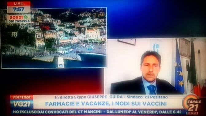 """Positano, il sindaco Guida su Canale 21:""""Vogliamo offrire sicurezza"""""""