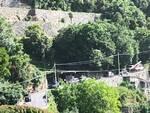 Positano: in corso le operazioni di ripristino del palo della Telecom a Montepertuso