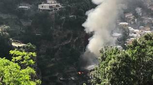 Positano: incendio in zona Liparlati
