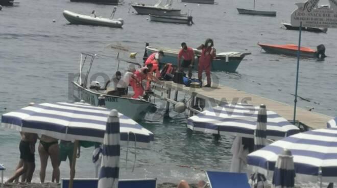 Positano: malori in spiaggia, a Fornillo intervengono Croce Rossa e 118