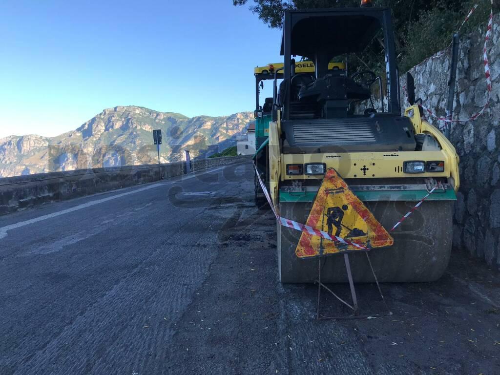 Praiano: iniziati questa notte i lavori di rifacimento del manto stradale