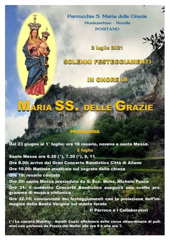 Programma Madonna di Montepertuso 2 luglio 2021