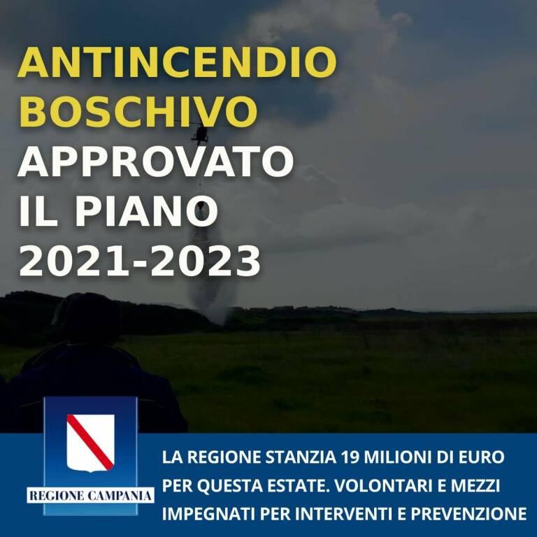 Protezione civile, la Giunta regionale della Campania approva il piano antincendio boschivo 2021-2023