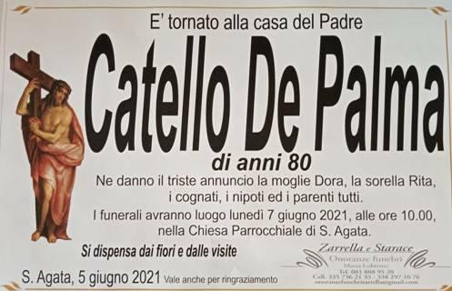 Sant'Agata piange la scomparsa dell'80enne Catello De Palma