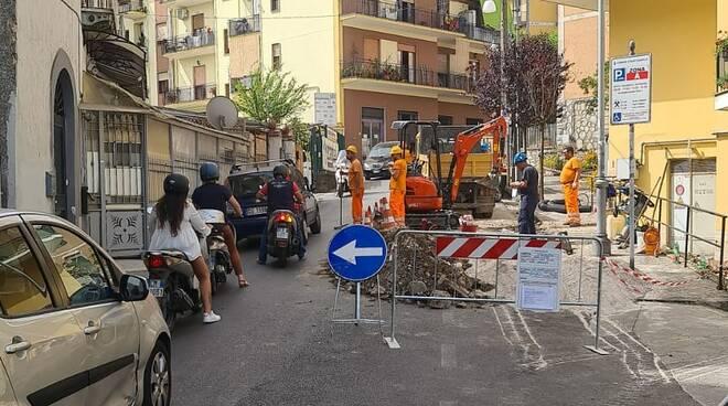 Sant'Agnello caos lavori Enel
