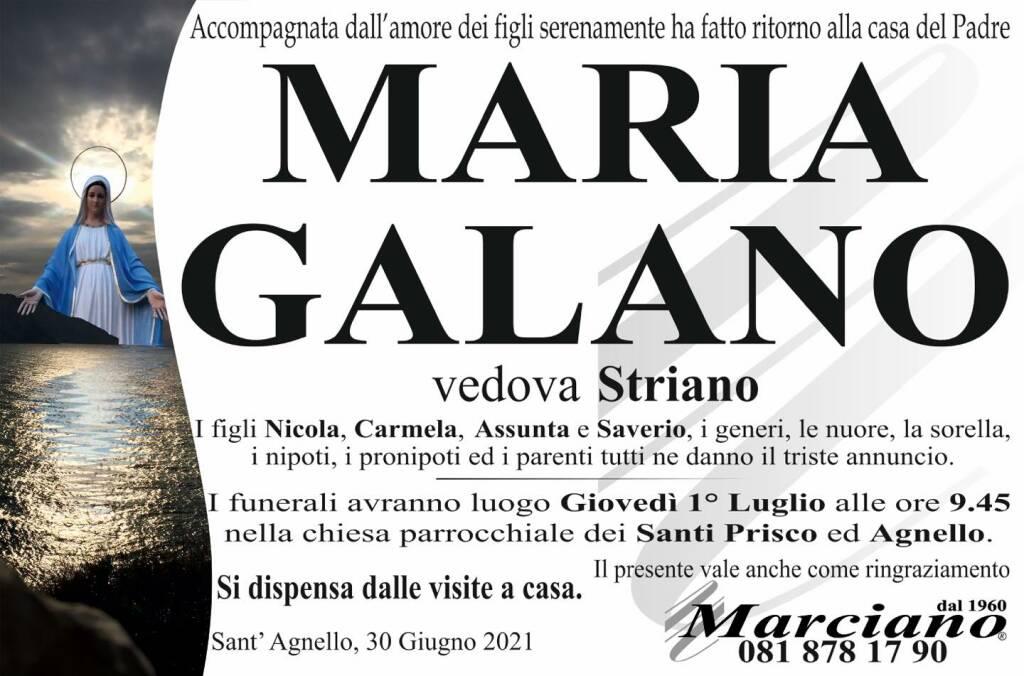 Sant'Agnello, ci lascia Maria Galano vedova Striano