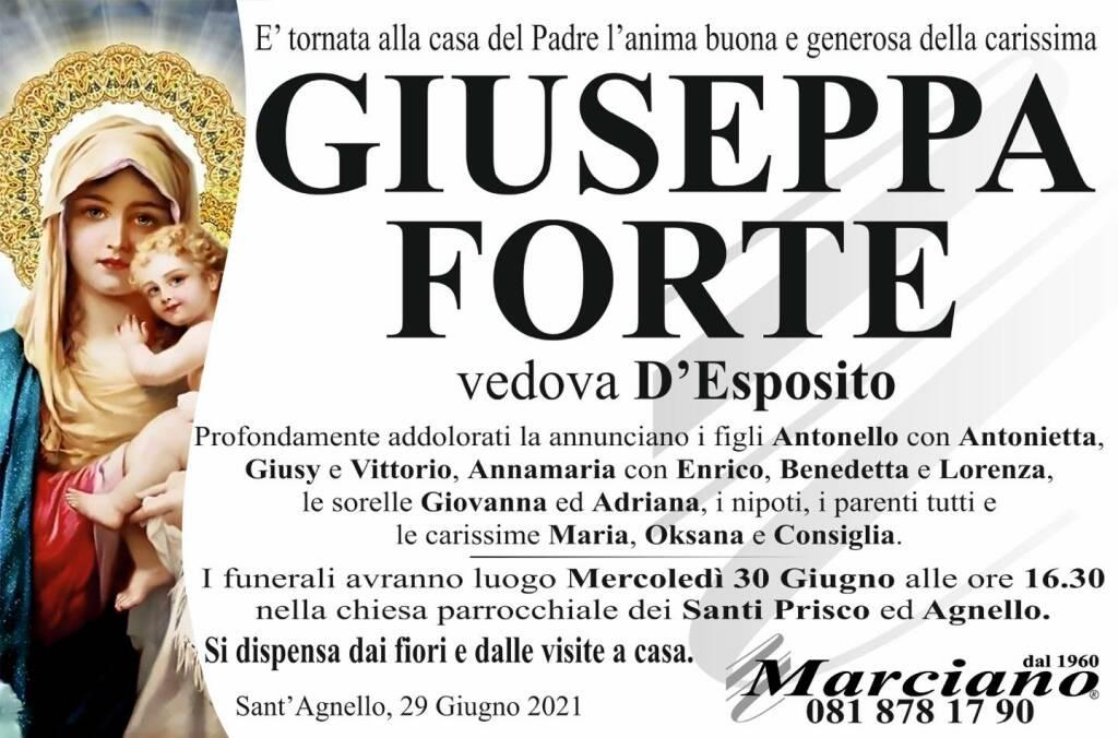 Sant'Agnello, lutto per la scomparsa di Giuseppa Forte vedova D'Esposito
