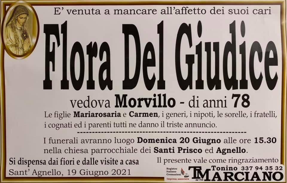 Sant'Agnello piange la scomparsa della 78enne Flora Del Giudice, vedova Morvillo