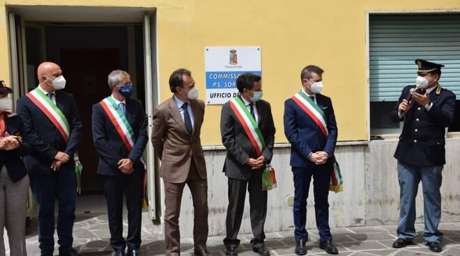 Sicurezza. Questore di Napoli e sindaci della penisola sorrentina, all'inaugurazione del nuovo Ufficio denunce del commissariato di polizia