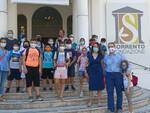 """Sorrento: stamattina l'incontro del Presidente del Consiglio Luigi Di Prisco e gli alunni in visita alla mostra """"Il Mare chiama chi ama il mare"""""""