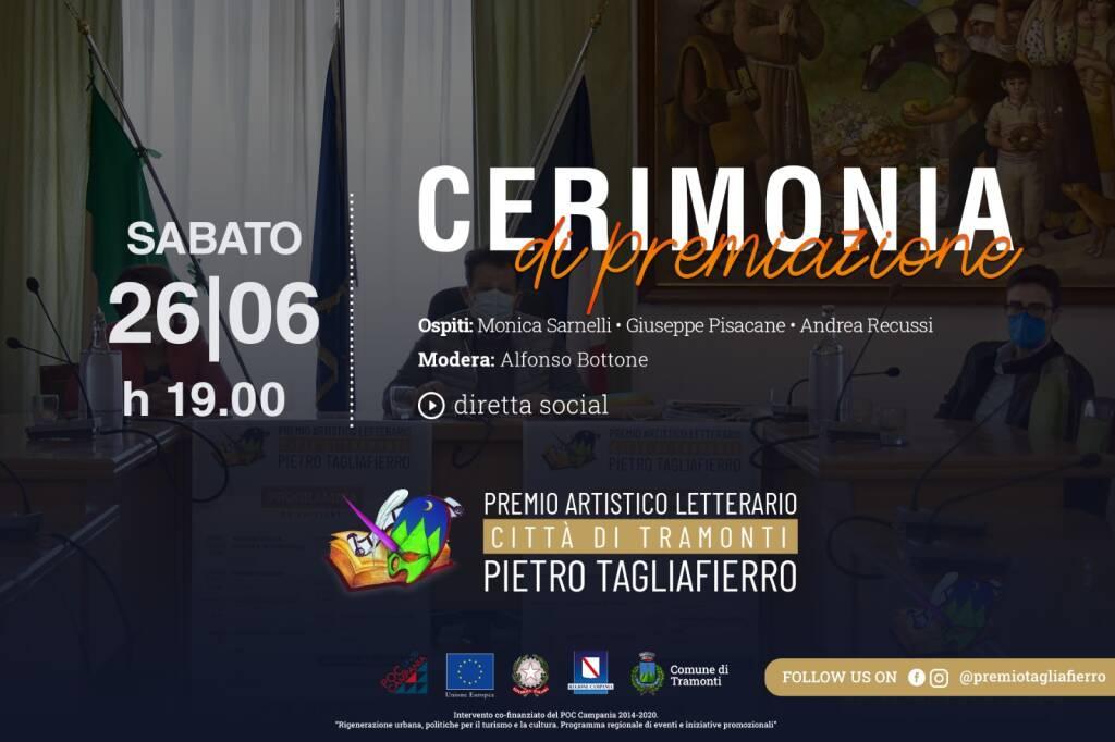 Tramonti, sabato i vincitori del Premio Tagliafierro. Ospiti Monica Sarnelli e Giuseppe Pisacane