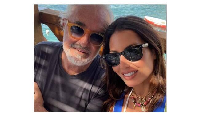 Elisabetta Gregoraci a Capri in compagnia dell'ex compagno Flavio Briatore