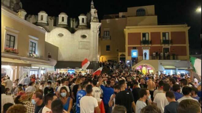 Euro 2020, Capri in festa tutta la notte