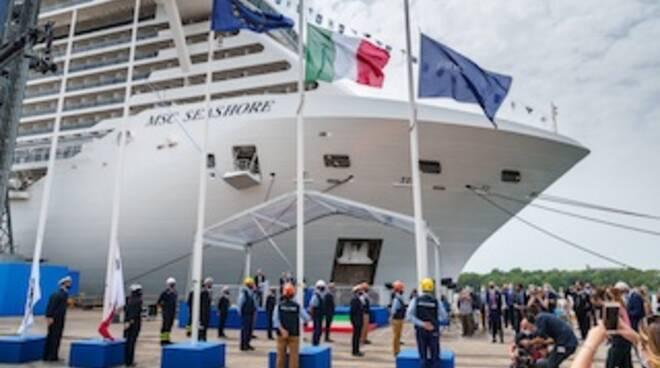 Fincantieri consegna MSC Seashore, la più grande nave costruita in Italia