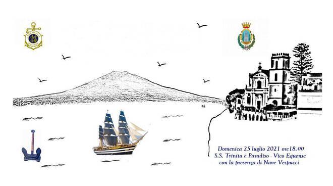 Il 25 luglio la nave Amerigo Vespucci a Vico Equense per un ricordo agli uomini di mare scomparsi