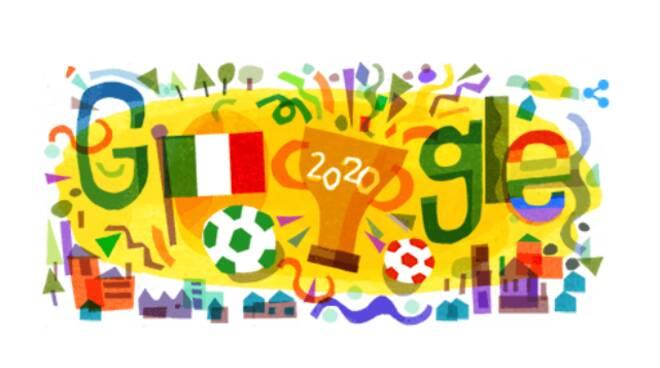 Il Doodle di Google di oggi è dedicato all'Italia, squadra vincitrice degli Europei