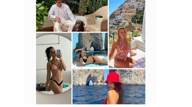 Le star del web in vacanza a Positano e Capri, da Valentina Ferragni a Valeria Angione. Tutte le novità