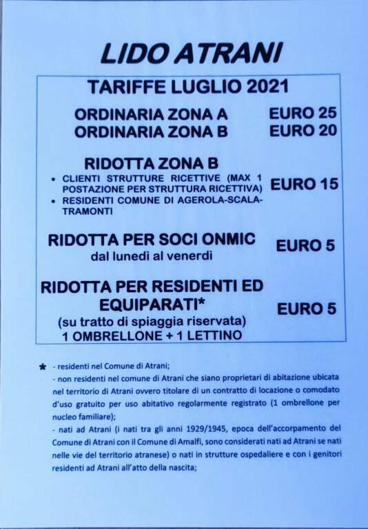 Lido Atrani: le linee guida per la spiaggia libera, servizi e tariffe