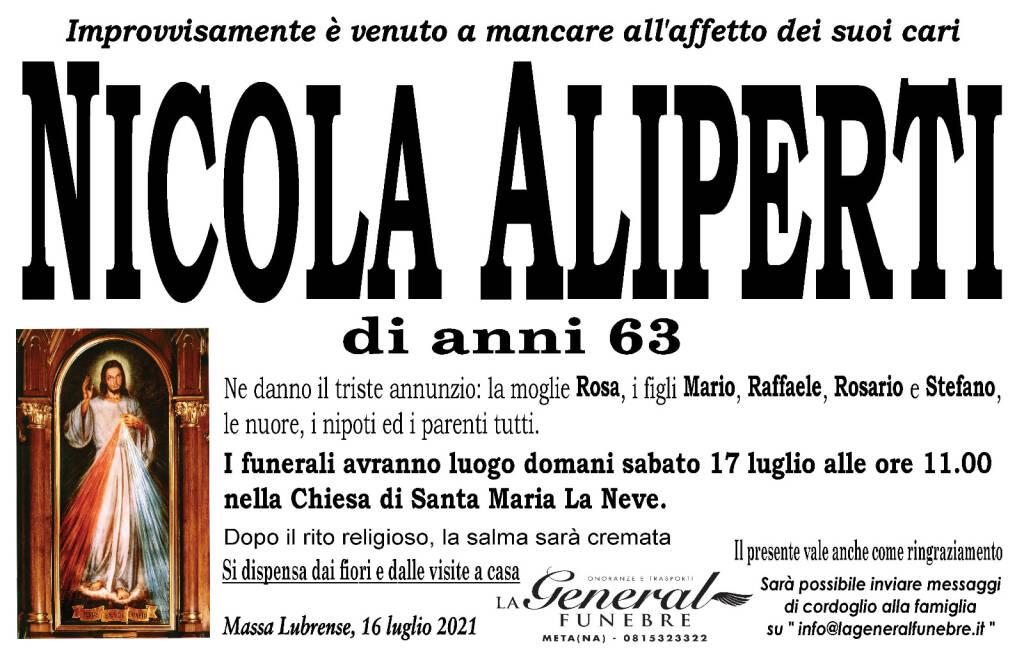 Massa Lubrense in lutto: all'età di 63 anni è venuto a mancare all'affetto dei suoi cari Nicola Aliperti