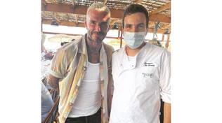 """Massa Lubrense, l'ex calciatore David Beckham al ristorante """"Lo Scoglio"""" di Nerano"""