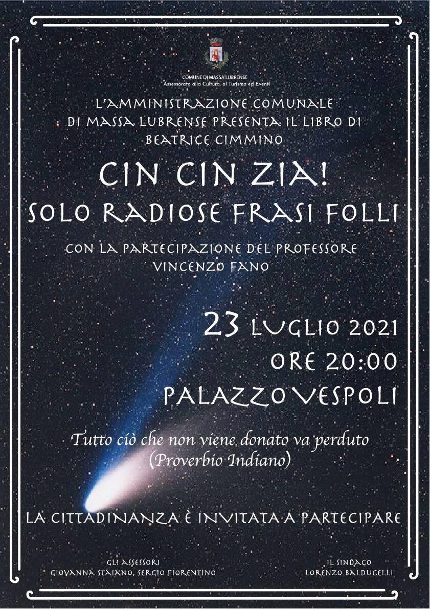 """Massa Lubrense, presentazione del libro di Beatrice Cimmino """"Cin Cin Zia!"""""""