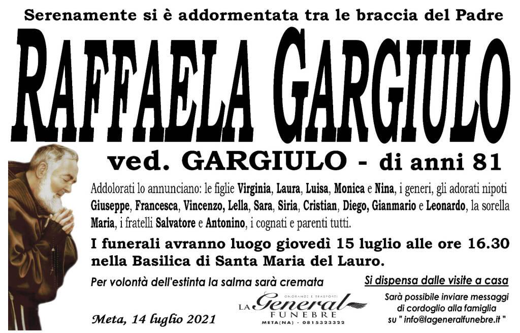 Meta, lutto per la perdita di Raffaela Gargiulo