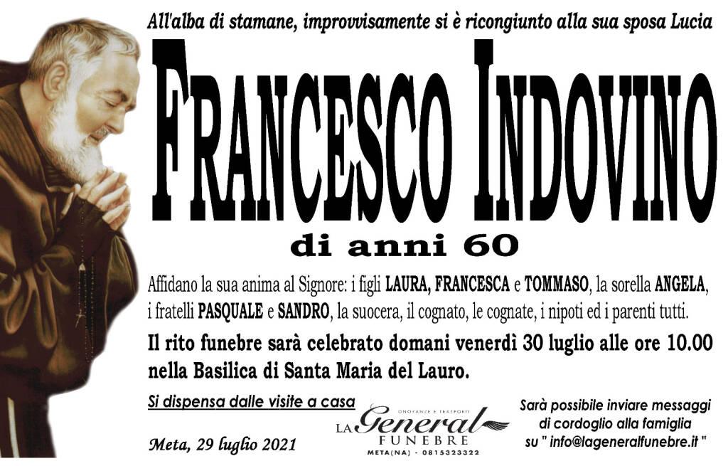 Meta piange la scomparsa di Francesco Indovino