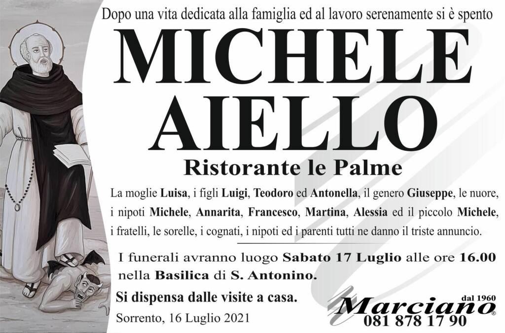 Michele Aiello necrologio