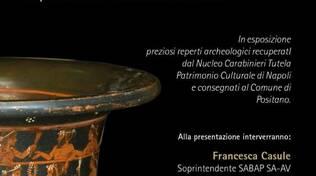 Mostra reperti archeologici recuperati dai carabinieri a Positano
